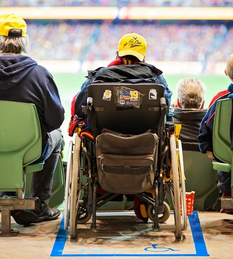 Wheelchair access at Adelaide Oval