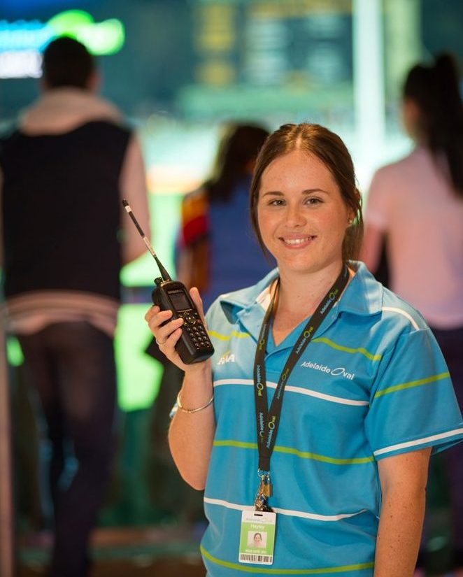 Event day staff member at Adelaide Oval