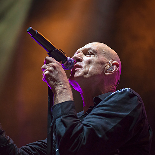 Midnight Oil performing at Adelaide Oval