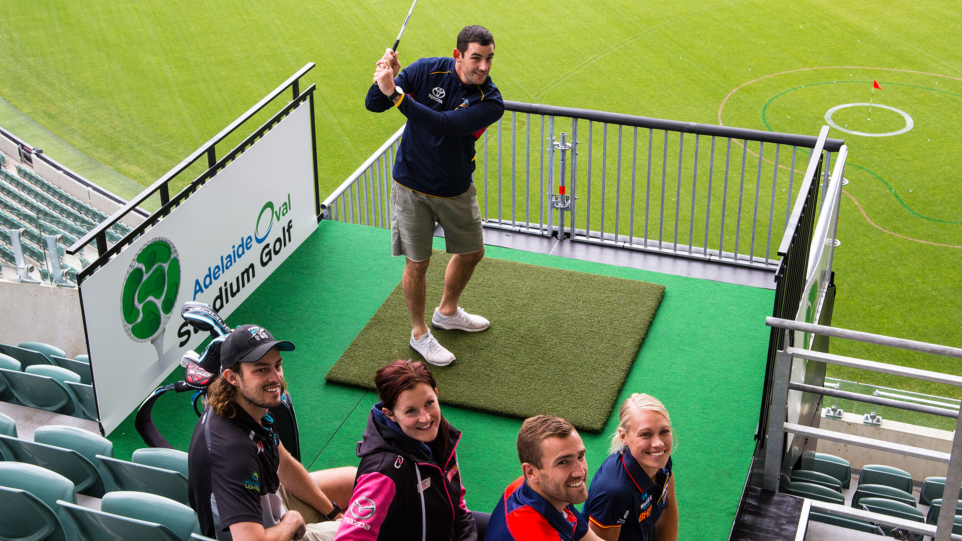 SA's sporting elite take on Adelaide Oval Stadium Golf