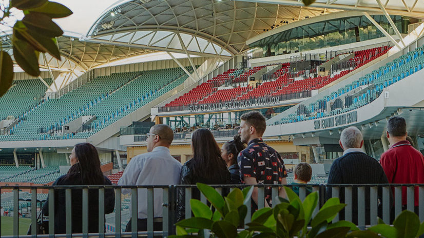 Tour group visiting Adelaide Oval
