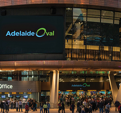 Adelaide Oval Telstra Plaza Screens